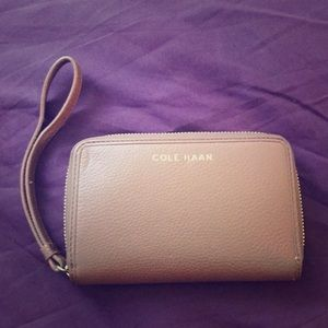 Cole Haan small leather wristlet NBW